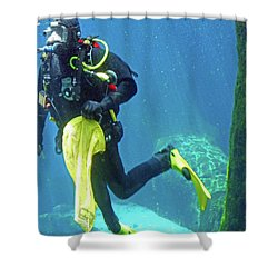 Fish Tank 16 Shower Curtain