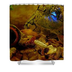 Shower Curtain featuring the photograph Fish Tank Abstract by Cassandra Buckley