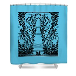 Fish Tank - Fish Tank Tee Shirt Shower Curtain by rd Erickson