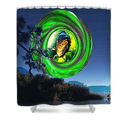 Fish Too Big For Cormorant Shower Curtain