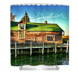 Fish Town Shanty  Shower Curtain