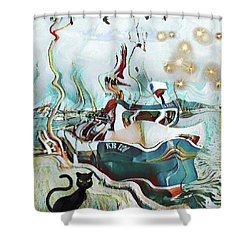 Fisherboat Shower Curtain