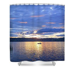 Fisherman Heading Home Shower Curtain