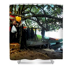 Fishing In Moorea Shower Curtain