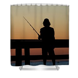 Fisherman Mount Sinai New York Shower Curtain by Bob Savage