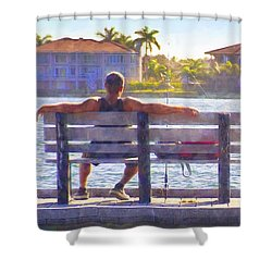 Fisherman Pass A Grille Florida Shower Curtain