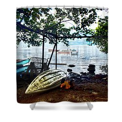 Fisherman's Cove In Moorea Shower Curtain