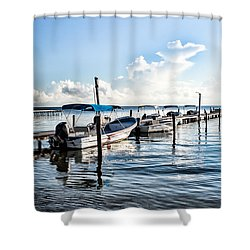 Fisherman's Marina Shower Curtain