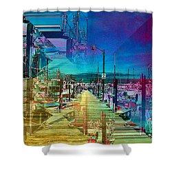 Fishermans Terminal Pier 2 Shower Curtain by Tim Allen
