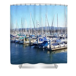 Shower Curtain featuring the photograph Fisherman's Wharf Monterey by Gina Savage