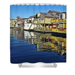 Fisherman's Wharf Shower Curtain by Marilyn Wilson