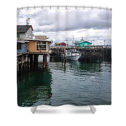 Shower Curtain featuring the photograph Fisherman's Wharf Monterey II by Gina Savage