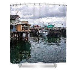 Fisherman's Wharf Monterey II Shower Curtain by Gina Savage