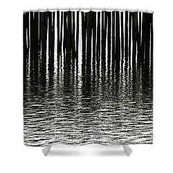 Shower Curtain featuring the photograph Fishermans Wharf Provincetown by Charles Harden