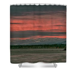 Shower Curtain featuring the photograph Fishermans Wharf Sunrise by Randy Hall