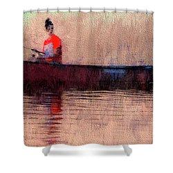 Fisherman Shower Curtain by Alex Galkin