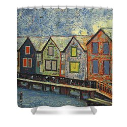 Fishermen Huts Shower Curtain