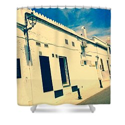 Fishermens' Cottages In Cuitadella Shower Curtain