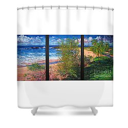 Fishermen's Paradise Shower Curtain by Estela Robles