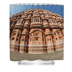 Shower Curtain featuring the photograph Fisheye View Of Hawa Mahal by Yew Kwang