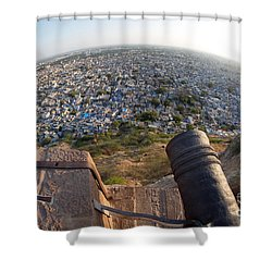 Shower Curtain featuring the photograph Fisheye View Of Jodhpur by Yew Kwang