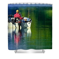 Shower Curtain featuring the photograph Fishing And Wishing 2 by Brian Stevens