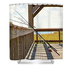 Fishing At Shem Creek Shower Curtain