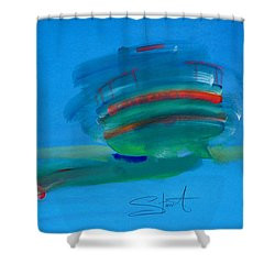 Fishing Boat Hastings Shower Curtain by Charles Stuart