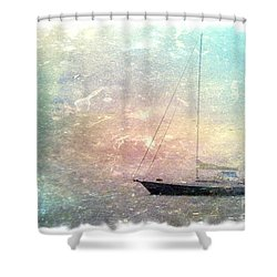 Fishing Boat In The Morning Shower Curtain