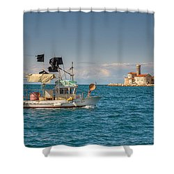 Fishing Boat Shower Curtain