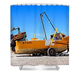 Shower Curtain featuring the photograph Fishing Boat by Silvia Bruno