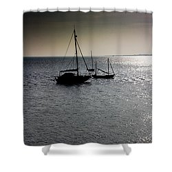 Fishing Boats Essex Shower Curtain