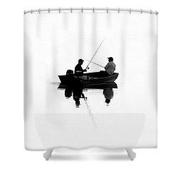 Fishing Buddies Shower Curtain by David Lee Thompson