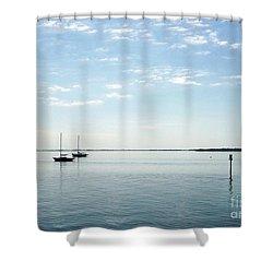 Fishing Buddies Shower Curtain by Gail Kent