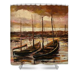 Fishing Cutters  Shower Curtain