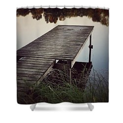 Shower Curtain featuring the photograph Fishing Dock by Karen Stahlros