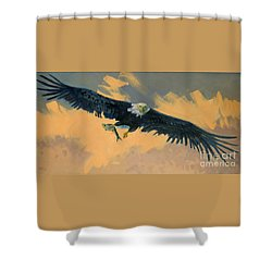 Fishing Eagle Shower Curtain