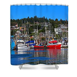 Fishing Fleet At Newport Harbor Shower Curtain