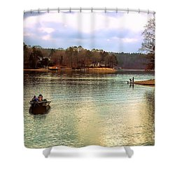 Shower Curtain featuring the photograph Fishing Hot Springs Ar by Diana Mary Sharpton