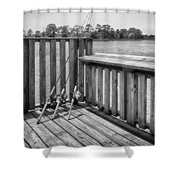 Shower Curtain featuring the photograph Fishing by Howard Salmon