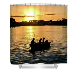 Fishing In Auckland Shower Curtain
