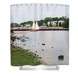 Fishing In Connecticut Shower Curtain