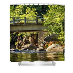 Fishing In Deer Creek Shower Curtain by James Eddy