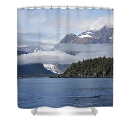 Fishing In Southeast Alaska Shower Curtain by Michele Cornelius