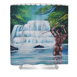 Fishing In The River Shower Curtain