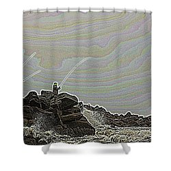 Fishing In The Twilight Zone Shower Curtain