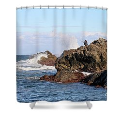 Shower Curtain featuring the photograph Fishing by Linda Lees