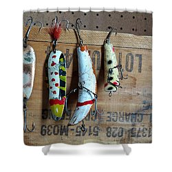 Fishing Lure  Shower Curtain by Sandra Church