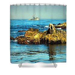 Fishing Monterey Bay Ca Shower Curtain