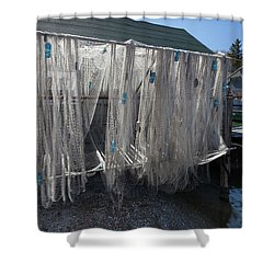 Shower Curtain featuring the photograph Fishing Net by Fran Riley